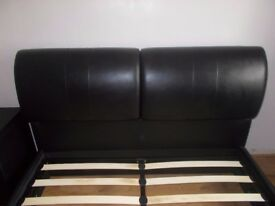 Kingsize Storage TV Bed 5 ft Black Faux Leather with Headboard Storage.Electric.£600 ONO