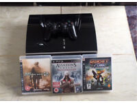 PLAYSTATION 3 250GB WITH 3 GAMES