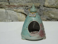 Studio Pottery Salt Holder Perry Marsh Pottery Helston Cornwall Art Ceramics Salt Pig