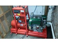 Lister Petter 2cyl Diesel generator 7 kva electric start and crank start