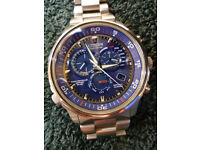 Citizen Men's Nighthawk Eco Drive Solar Atomic Radio Controlled Watch. Stamped 5 Year Warranty Card.