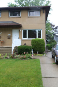 3 BEDROOM SEMI FOR RENT AVAIL OCT 1