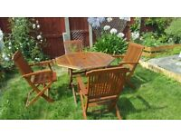 Patio set/garden table and chairs /wooden