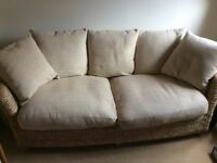 Marks & Spencer cane conservatory 3 seater sofa