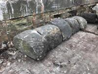 Round top stone wall tops