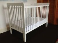 John Lewis Eric Cot, White in very good condition (mattress also available)
