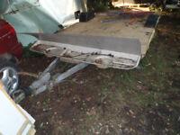 Caravan base chassis trailer scrap