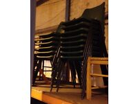 Green Plastic Stacking Chairs