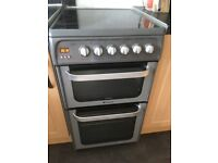 Hotpoint electric freestanding cooker. Great condition with 2 ovens and grill