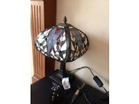 Tiffany glass muliticolored lamp