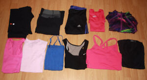 11 Pc Lot Womens Small Clothes Lululemon Adidas Nike Under Armou