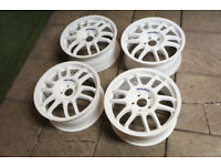 "Genuine Speedline GT1 17"" Alloy wheels 5x114.3 JDM Evo Civic EP3 MR2 S14 S15 Alloys"