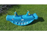 Little tikes whale teeter totter- Blue.