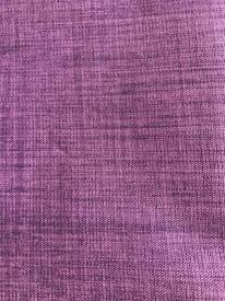One pair of purple curtains