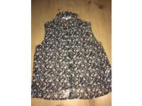 New look black floral shirt girls age 14 years