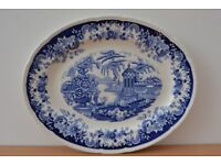 Large 'Bombay' Serving dish by Maddock, Hand Engraved