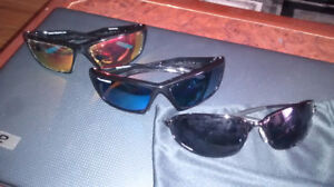 Two pairs of recreational (or safety) glasses **RED PAIR SOLD**
