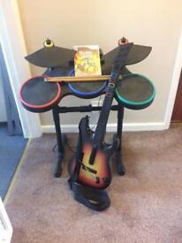 Guitar hero set for Wii