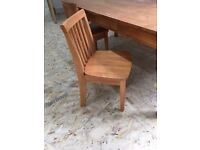 Kids Wood Art Table with 2 chairs