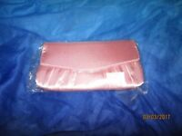 PINK SILKY CLUTCH BAG BRAND NEW STILL IN THE PACKET PARTY / WEDDING
