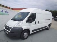Late 2013 citroen relay long high one owner full history £6250 drives like new 2 keys