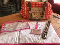 Pink Lining Blooming Gorgeous Yummy Mummy Changing Bag