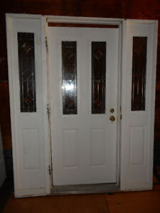 Large Entry Door with 2 sidelights