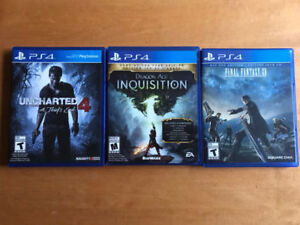 Uncharted 4 and FFXV PS4 (25 each)