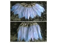 Black and blue layered tutu