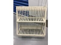 Painted Wooden Wall Hanging Plate Rack