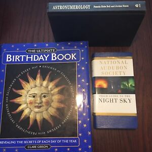 Birthday book, night sky guide and astronumerology