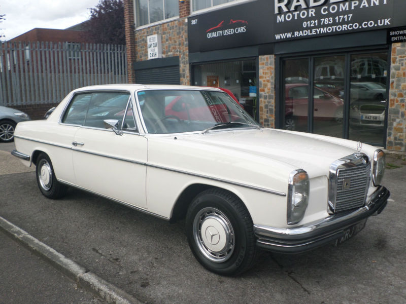 Mercedes benz 250 ce auto w114 coupe 1972 k reg tax except for Mercedes benz mechanic jobs