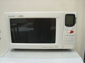 Sharp R-891M Combination Microwave Oven, with Handbook and Accessories.