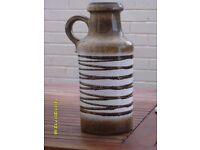 LARGE DECORATIVE JUG, MADE IN W.GERMANY MARKED WITH 407-35 ON THE BASE.