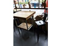 Breakfast bar table with 2 tolix style stools ex display couple of small marks bargain!!!!!!