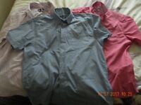 "3 mens Short sleeved shirts 16.5"" regular fit"