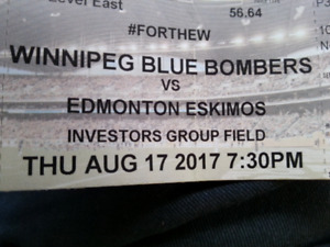 Blue Bombers Tickets