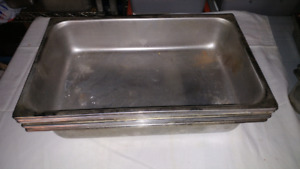 Restaurant heating trays for steam table, various sizes