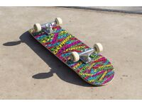 BRAND NEW!!! Double Kick Trick Skateboard, 31 x 8 Inches 7 ply Maple Deck