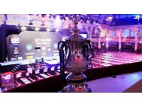 WORLD MATCHPLAY DARTS TICKETS QUARTER FINAL THURSDAY NIGHT SESSION 4 TICKETS AVAILABLE TABLES