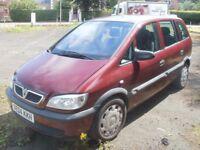 vauxhall zafira 7 seater diesel mechanic owned . 2005 life model