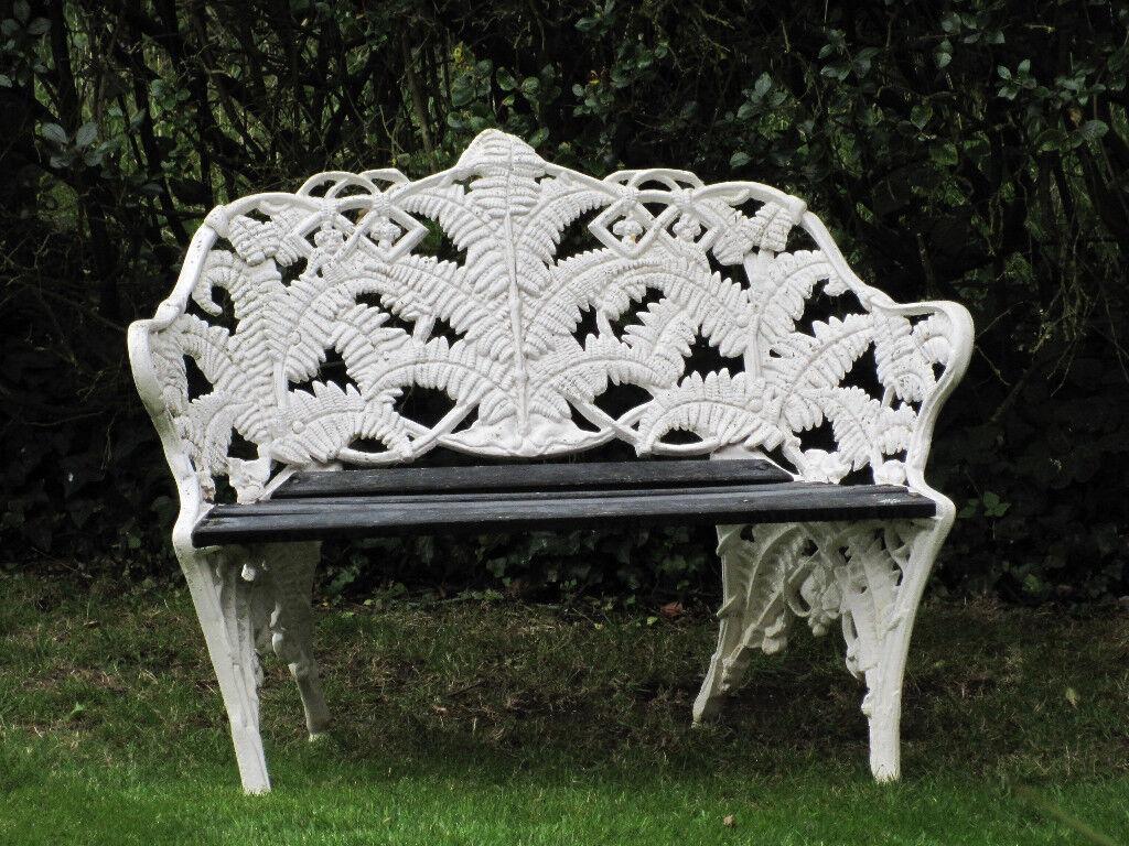 Fern Coalbrookdale Victorian Style Cast Iron Amp Wood White