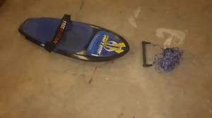Knee board and tow rope