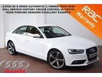 2013 Audi A4 2.0TDI AUTOMATIC SE-1 OWNER-FULL SERVICE HISTORY-CRUISE-B/TOOTH-