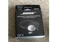 Bose QC3 acoustic cancelling on the ear headphones