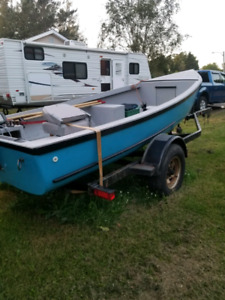 16 ft cape boat and trailer