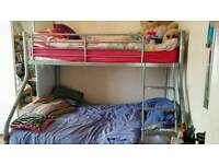 Triple bunk beds with matresses