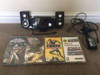 PSP-1000 Black - 5 Games - Logitech Speaker System £45 ONO