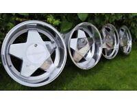 "17's Classic wheels Alloys""BORBET A""4X100 width J7,5 /J10 BWM E30,E21,VW GOLF not BBS,OZ,RIAL"
