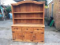 HANDMADE Rustic Solid Pine Farmhouse Kitchen Dresser With Shelves Drawers And Cabinets (CAN DELIVER)